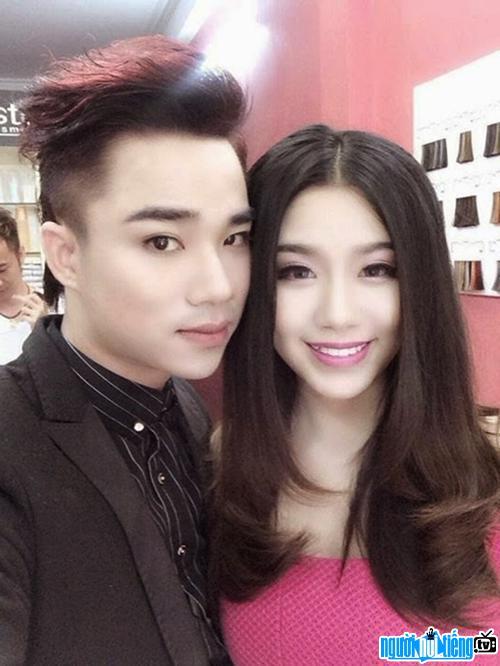 Bức ảnh diễn viên Hữu Công cùng bạn gái Linh Miu khi còn yêu nhau