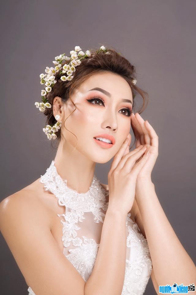 Người mâu Tô Uyên Khánh Ngọc tham dự cuộc thi Hoa hậu Hoàn vũ Việt Nam 2017